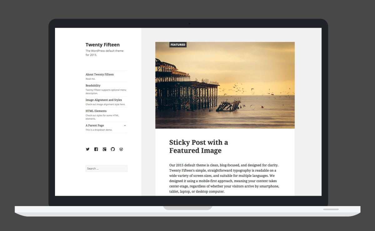 Twenty Fifteen, the WordPress Default Theme for 2015